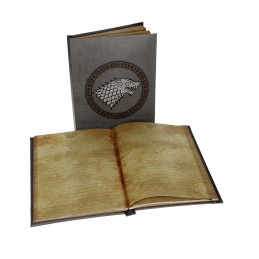 SD TOYS GAME OF THRONES STARK LIGHT UP NOTEBOOK - TACCUINO LUMINOSO 15X24CM
