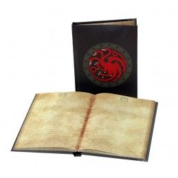 GAME OF THRONES TARGARYEN LIGHT UP NOTEBOOK - TACCUINO LUMINOSO 15X24CM