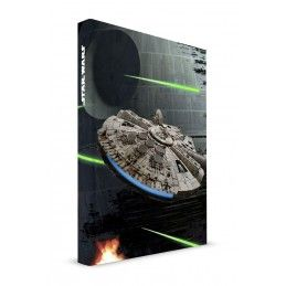 SD TOYS STAR WARS MILLENIUM FALCON NOTEBOOK LIGHT/SOUND - TACCUINO LUCI/SUONI 15X21