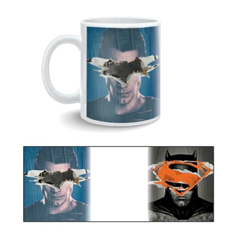 BATMAN V SUPERMAN POSTER MUG TAZZA IN CERAMICA 2BNERD