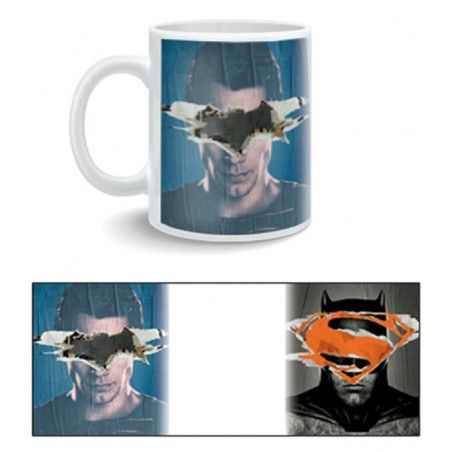 BATMAN V SUPERMAN POSTER MUG TAZZA IN CERAMICA