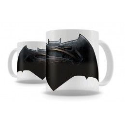 SD TOYS BATMAN V SUPERMAN LOGO THERMAL MUG TAZZA IN CERAMICA