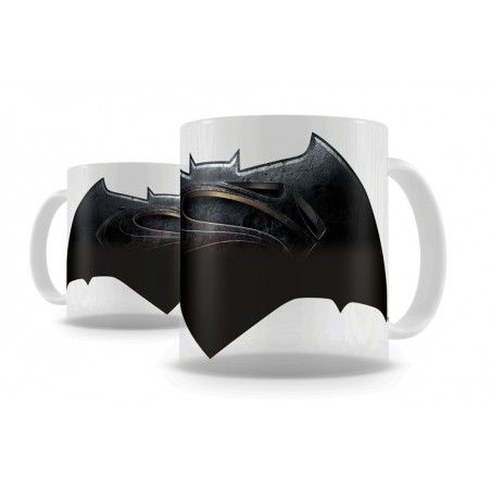 BATMAN V SUPERMAN LOGO THERMAL MUG TAZZA IN CERAMICA