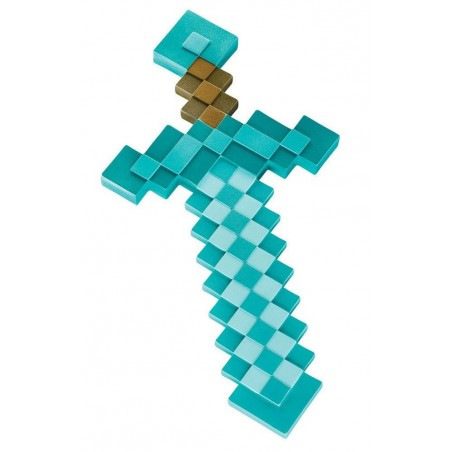MINECRAFT PLASTIC REPLICA DIAMOND SWORD 51CM SPADA
