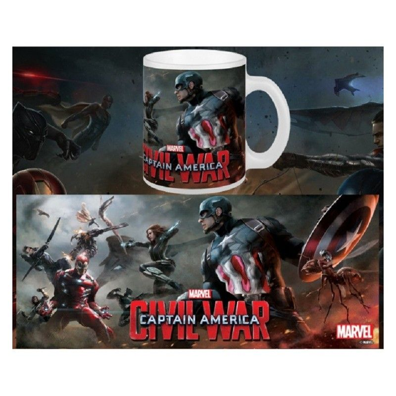 CAPTAIN AMERICA CIVIL WAR BATTLE MUG TAZZA IN CERAMICA SEMIC