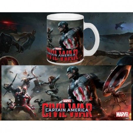 CAPTAIN AMERICA CIVIL WAR BATTLE MUG TAZZA IN CERAMICA