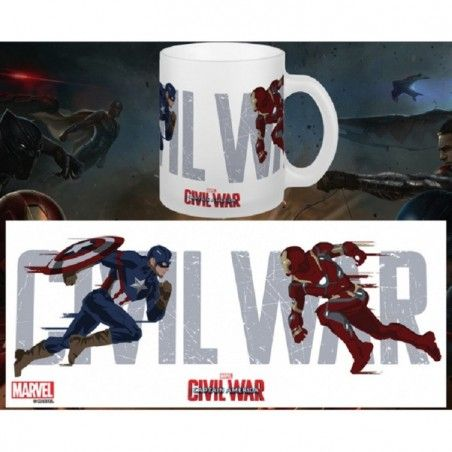 CAPTAIN AMERICA CIVIL WAR RUNNING MUG TAZZA IN CERAMICA