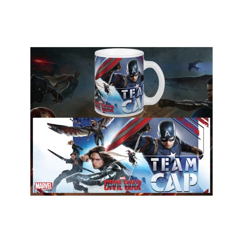 SEMIC CAPTAIN AMERICA CIVIL WAR TEAM CAP MUG TAZZA IN CERAMICA