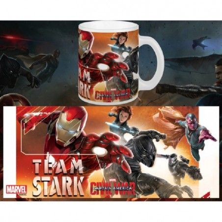 CAPTAIN AMERICA CIVIL WAR TEAM STARK MUG TAZZA IN CERAMICA