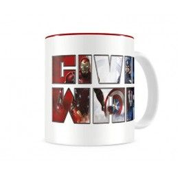 CIVIL WAR THERMAL LOGO MUG TAZZA IN CERAMICA SD TOYS