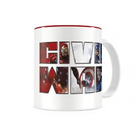 CIVIL WAR THERMAL LOGO MUG TAZZA IN CERAMICA