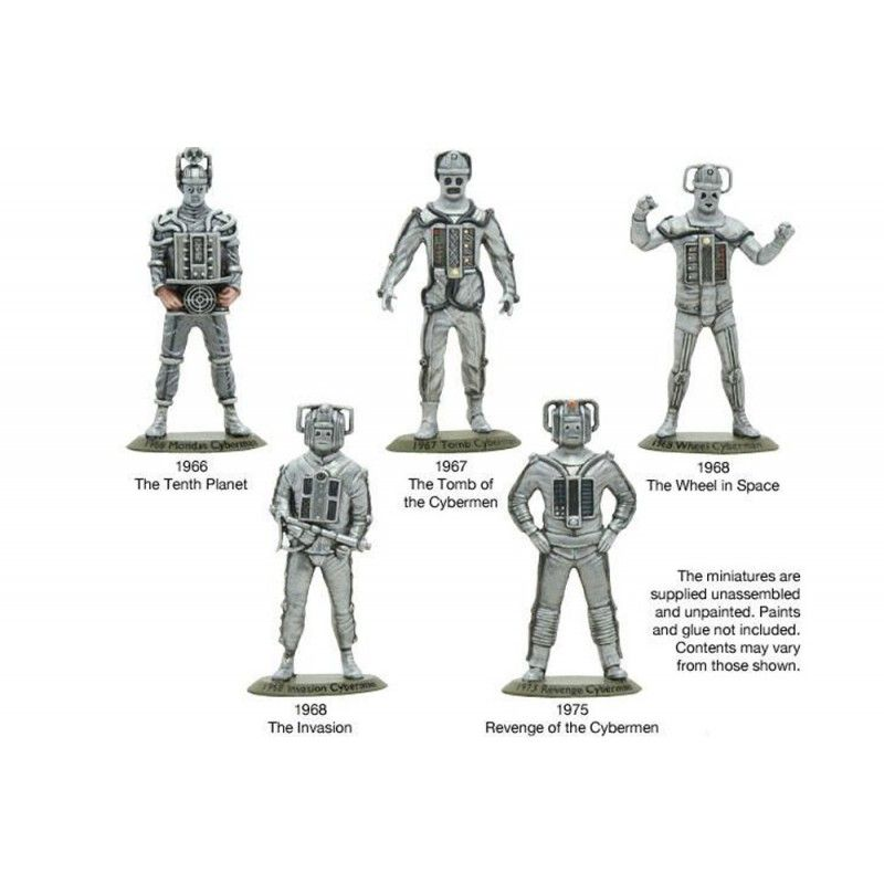 DOCTOR WHO NIGHTMARES IN SILVER CYBERMEN COLLECTOR'S SET STATUE FIGURE