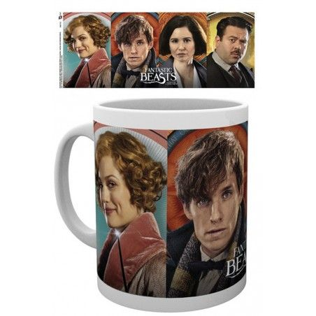 HARRY POTTER FANTASTIC BEASTS CHARACTERS MUG TAZZA IN CERAMICA