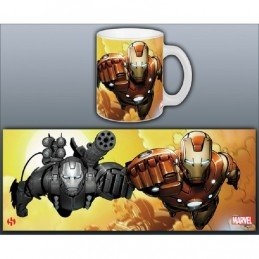 IRON MAN AND WAR MACHINE MUG TAZZA IN CERAMICA SEMIC