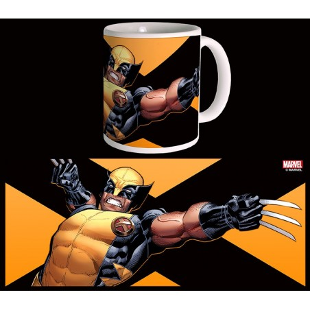 X men wolverine logan mug tazza in ceramica semic