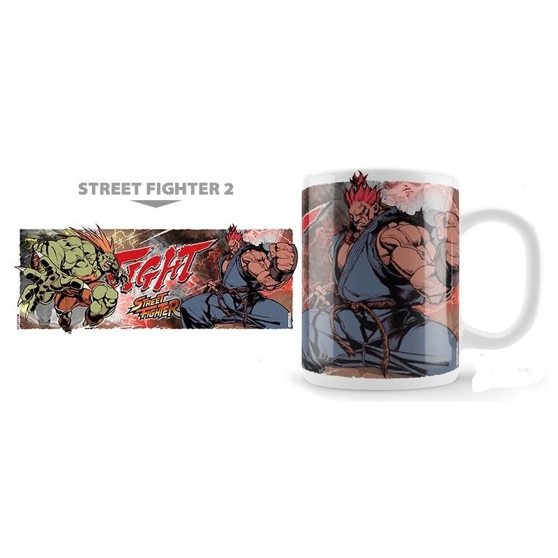 STREET FIGHTER 2 BLANKA VS AKUMA MUG TAZZA IN CERAMICA NEKOWEAR