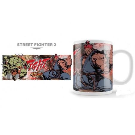 STREET FIGHTER 2 BLANKA VS AKUMA MUG TAZZA IN CERAMICA