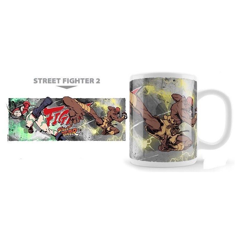 STREET FIGHTER 2 CAMMY VS DALSHIM MUG TAZZA IN CERAMICA NEKOWEAR