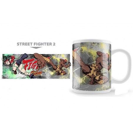STREET FIGHTER 2 CAMMY VS DALSHIM MUG TAZZA IN CERAMICA