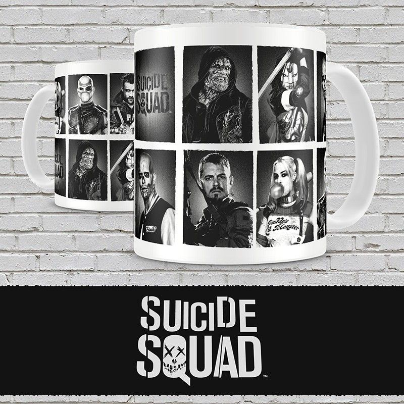 SD TOYS SUICIDE SQUAD CHARACTERS MUG TAZZA IN CERAMICA