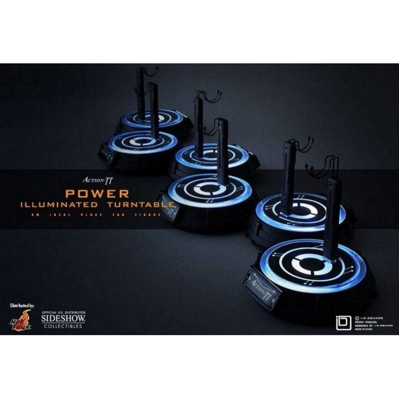 ACTION TT POWER ILLUMINATED TURNTABLE STAND MOBILE ILLUMINATO PER FIGURE HOT TOYS