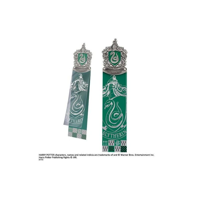 NOBLE COLLECTIONS HARRY POTTER SLYTHERIN CREST BOOKMARK SEGNALIBRO