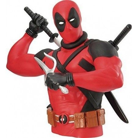 MARVEL NEW DEADPOOL BUST BANK SALVADANAIO FIGURE