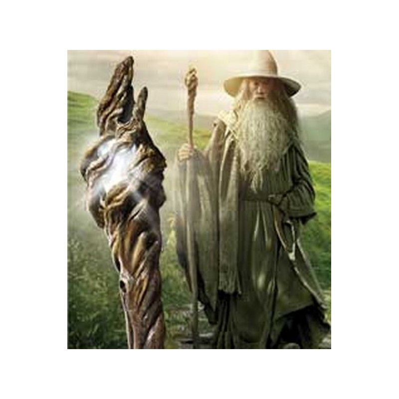 LORD OF THE RINGS - BASTONE DI GANDALF ILLUMINATING STAFF NOBLE COLLECTIONS