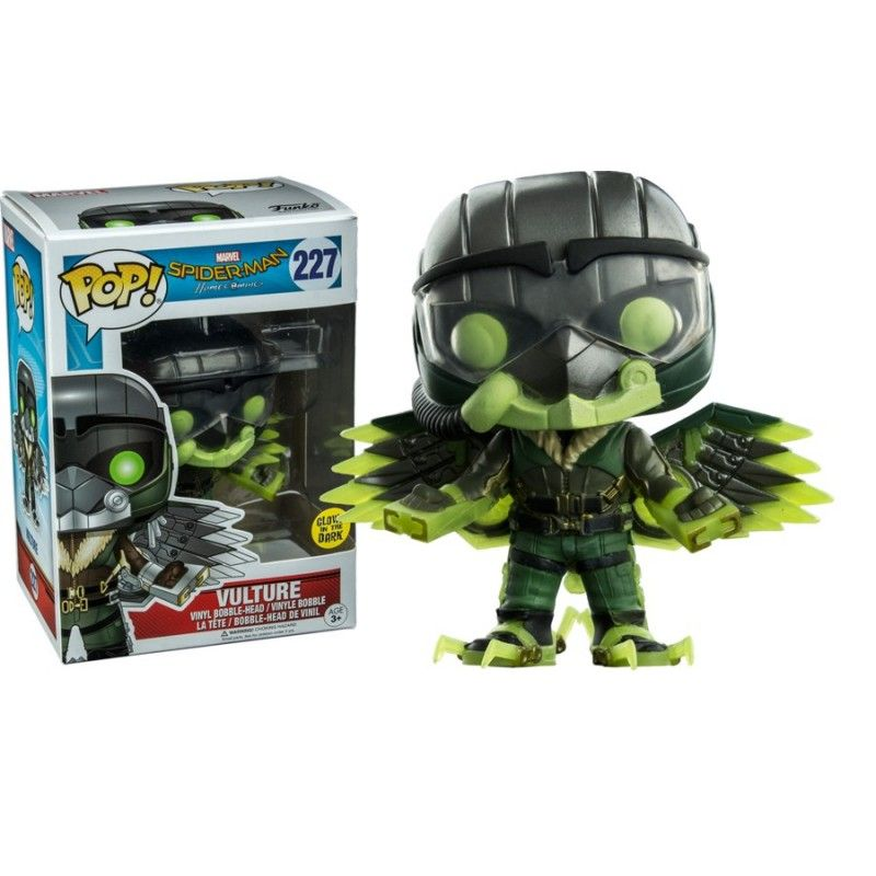 FUNKO POP! SPIDER-MAN HOMECOMING VULTURE GLOWS IN THE DARK BOBBLE HEAD KNOCKER FIGURE
