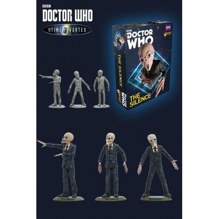 DOCTOR WHO INTO THE TIME VORTEX THE SILENCE SET STATUE FIGURE