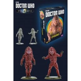 DOCTOR WHO INTO THE TIME VORTEX ZYGONS SET STATUE FIGURE WARLORD GAMES