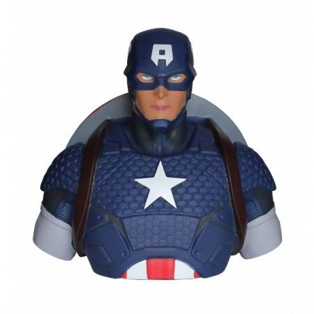 THE AVENGERS I VENDICATORI CAPTAIN CAPITAN AMERICA DELUXE BUST BANK SALVADANAIO