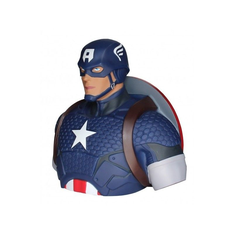 THE AVENGERS I VENDICATORI CAPTAIN CAPITAN AMERICA DELUXE BUST BANK SALVADANAIO SEMIC