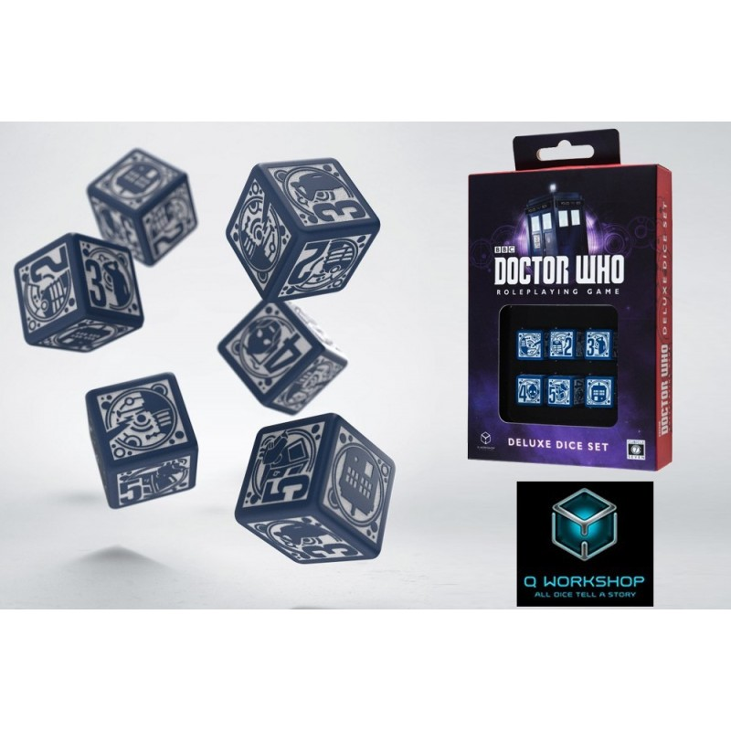 DOCTOR WHO ROLEPLAYING GAME DELUXE DICE SET 6 DADI DA 6