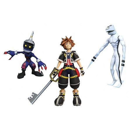 KINGDOM HEARTS - SORA DUSK AND SOLDIER ACTION FIGURE
