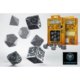 STEAMPUNK METAL DICE SET 7 DADI IN METALLO Q WORKSHOP