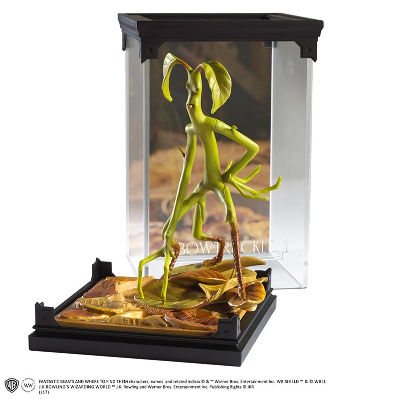 NOBLE COLLECTIONS FANTASTIC BEAST MAGICAL CREATURES - BOWTRUCKLE STATUA FIGURE
