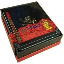 HARRY POTTER - GRYFFINDOR METAL PEN DESK STAND PENNA CON BASE NOBLE COLLECTIONS