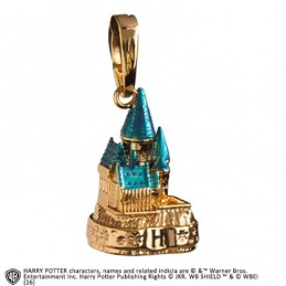 NOBLE COLLECTIONS HARRY POTTER - HOGWARTS CASTLE GOLD CIONDOLO IN METALLO