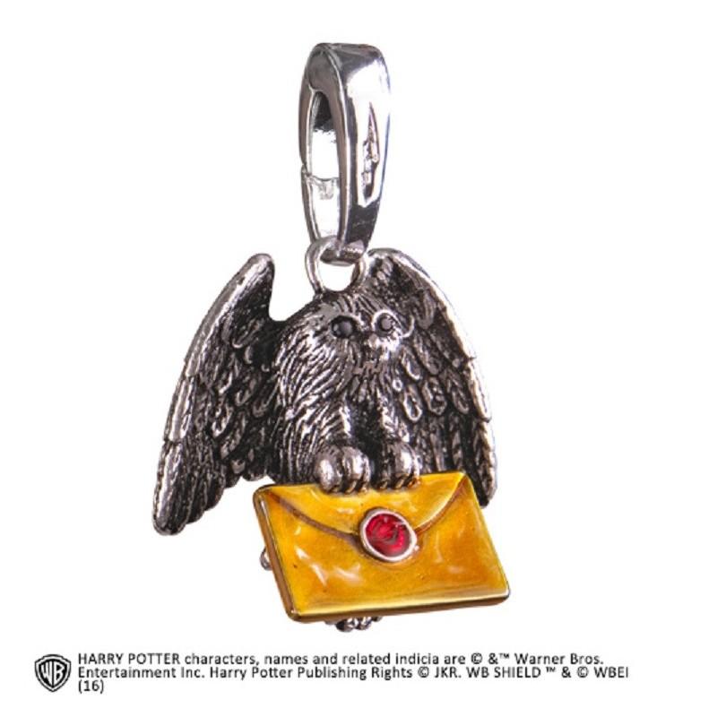 NOBLE COLLECTIONS HARRY POTTER - GUFO OWL POST CIONDOLO IN METALLO
