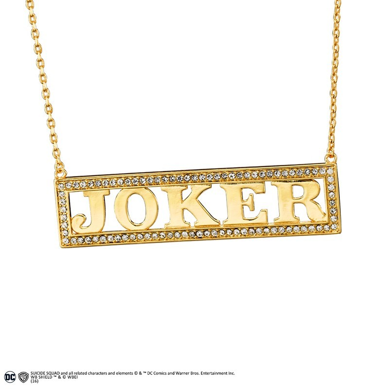 SUICIDE SQUAD - HARLEY QUINN JOKER COLLANA NECKLACE IN METALLO NOBLE COLLECTIONS