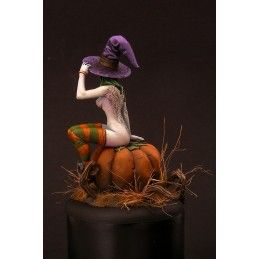 HALLOWEEN GIRL RESIN FIGURE MINI STATUE MODEL KIT KABUKI