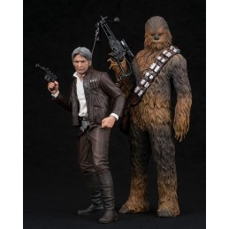 STAR WARS FORCE AWAKENS HAN SOLO AND CHEWBACCA ARTFX STATUE