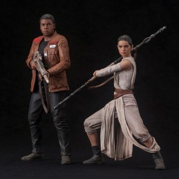 STAR WARS FORCE AWAKENS REY AND FINN ARTFX+ STATUE FIGURE
