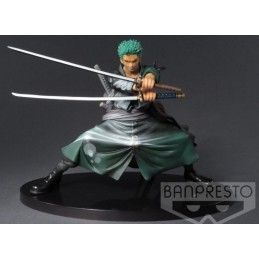 BANPRESTO ONE PIECE - RORONOA ZORO SHINING COLOR VER SCULTURES STATUE
