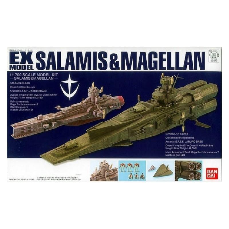EX MODEL SALAMIS AND MAGELLAN 1/1700 SCALE MODEL KIT ACTION FIGURE BANDAI