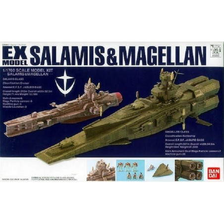 EX MODEL SALAMIS AND MAGELLAN 1/1700 SCALE MODEL KIT ACTION FIGURE