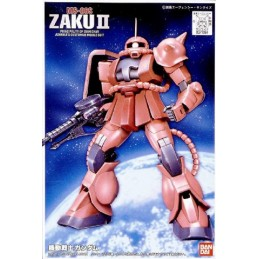 FIRST GRADE FG GUNDAM ZAKU CHAR'S 1/144 MODEL KIT FIGURE BANDAI