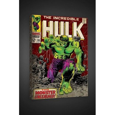 THE INCREDIBLE HULK STAMPA SU TELA CANVAS 40 X 60 CM