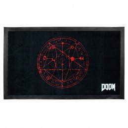 GAYA ENTERTAINMENT DOOM PENTAGRAM ZERBINO TAPPETINO DOORMAT 75 x 44 cm